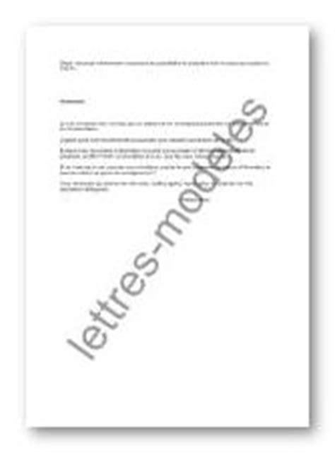 Exemple De Lettre Demande D Information Mod 232 Le Et Exemple De Lettres Type Demande D Information Inpi
