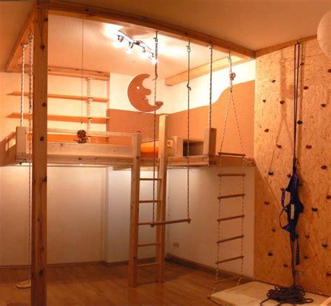 kinderzimmer klettern ein kindertraum hochebene mit treppe strickleiter