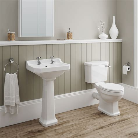 darwin 4 piece traditional bathroom suite victorian