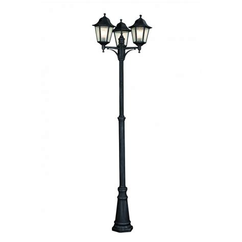 3 l post light massive toulouse 3 light outdoor l post in grey finish
