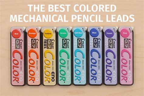colored lead mechanical pencils guide to colored mechanical pencil leads jetpens