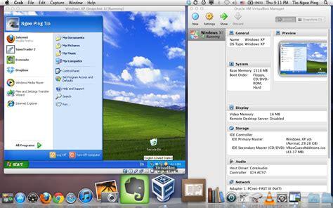 xp setup virtual host mac taichiseal charts running windows xp under mac os x lion