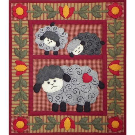 Applique Quilt Kits by Lambs Wall Quilt Kit Easy For Beginners Applique