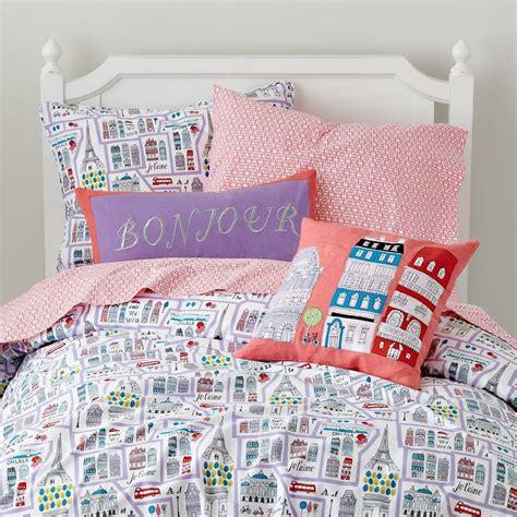 girls bedding paris themed bedding set in girl bedding