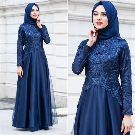 Baju Pesta Modern Brokat 46 model baju muslim pesta modern brokat terbaru 2018 model baju muslim kebaya modern 2018