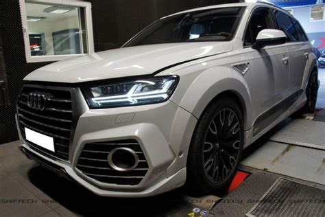 audi q7 performance chip audi q7 abt sportsline with lowering and alloy wheels