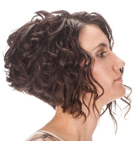angled bob for curly hair curly inverted bob hair pinterest
