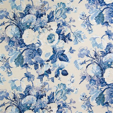 blue floral upholstery fabric cobalt blue floral print upholstery fabric