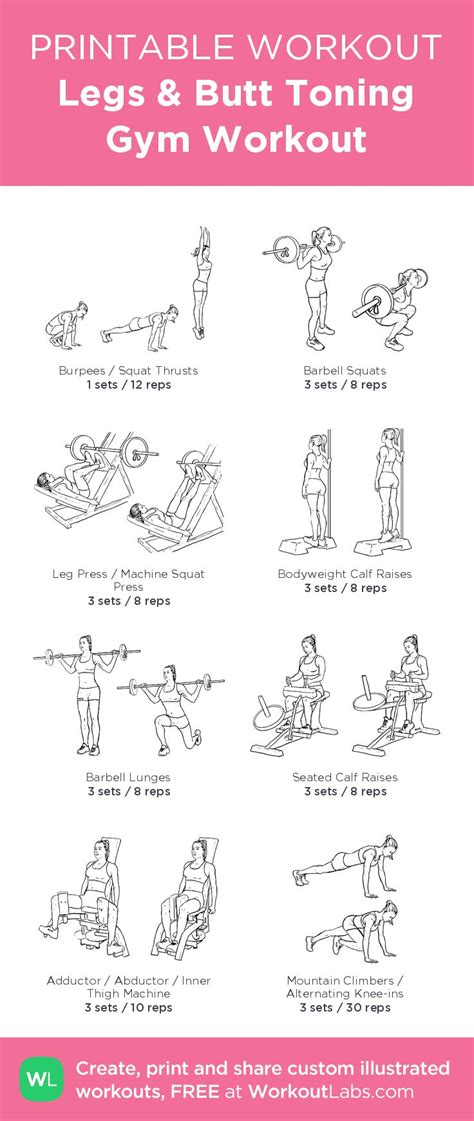 printable workout plan for the gym 25 best ideas about printable workouts on pinterest gym