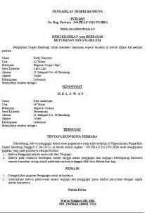 contoh surat jawaban gugatan wisata dan info sumbar