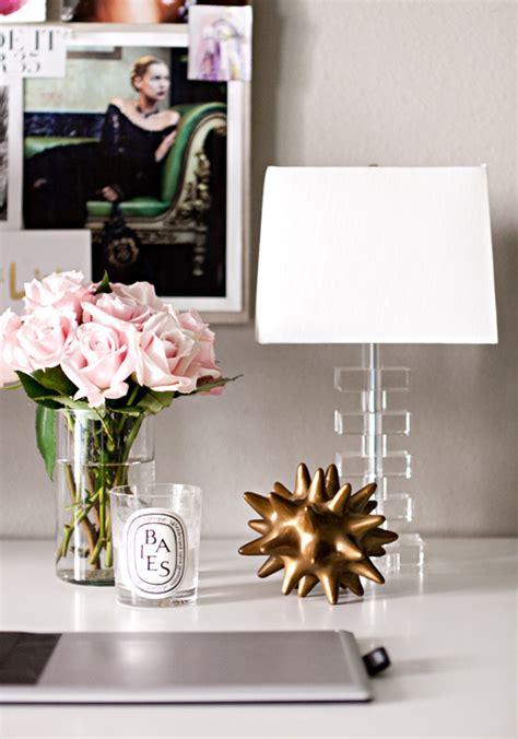 Office Desk Flowers My Favorite Room Erika Brechtel La Dolce Vita