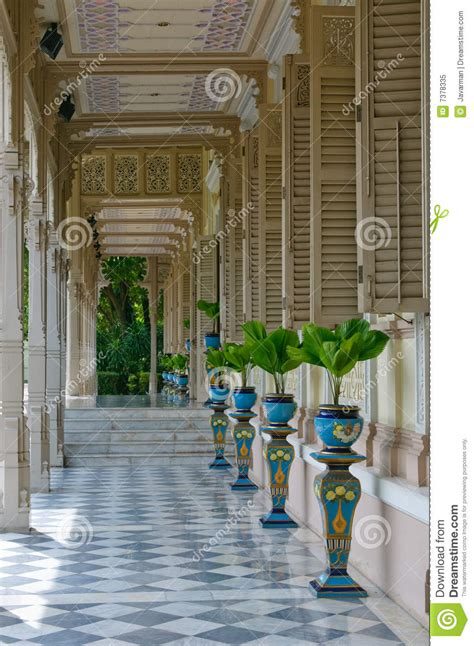 styles of decor terrace in colonial style house royalty free stock photo