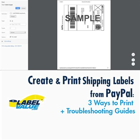 create a shipping label online how to create print paypal shipping labels 3 ways to