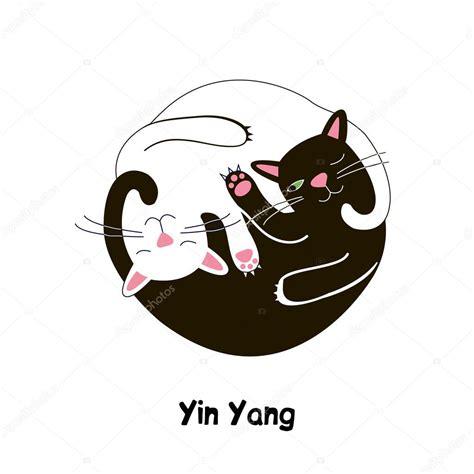 cat yin  vector graphics stock vector  irkast