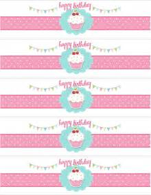 Printable water bottle labels free template for birthday
