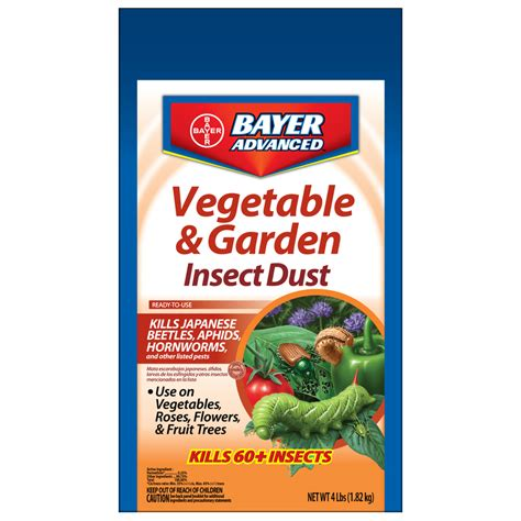 insecticide for vegetable garden shop bayer advanced vegetable and garden insect dust 4