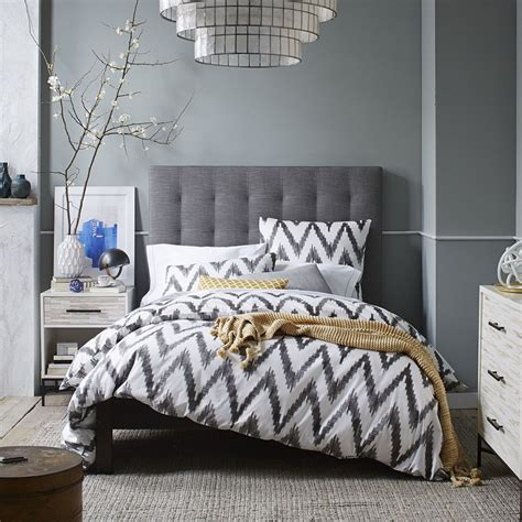 grid tufted headboard from west elm is it high