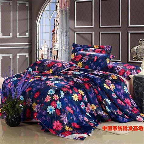 floral blue luxury comforter bedding set king size queen