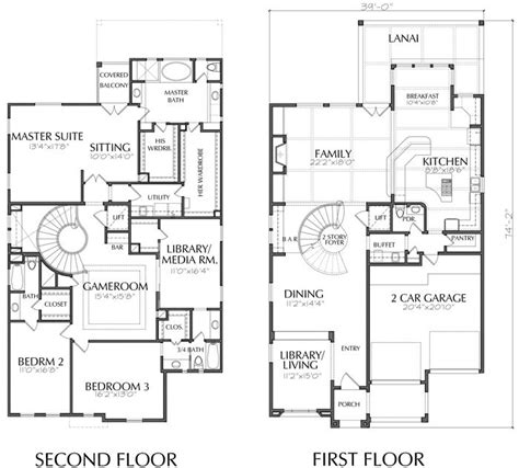 2 story home floor plans unique two story house plan floor plans for large 2 story homes wood associates