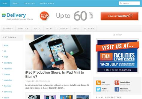pc themes delivery delivery blogger template 2014 free download
