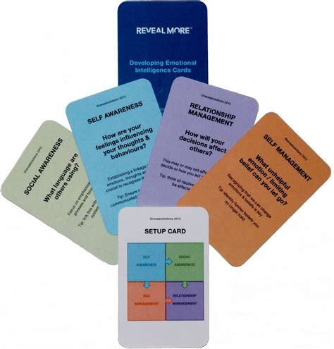 card course developing emotional intelligence cards reveal solutions