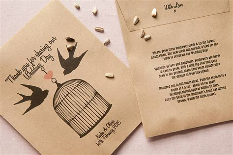 Wedding Favors Seeds by 10 Birds Personalised Seed Packet Favours By Wedding