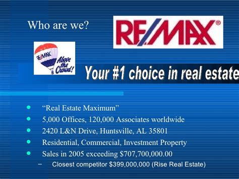 Remax Listing Presentation Real Estate Listing Presentations Powerpoint