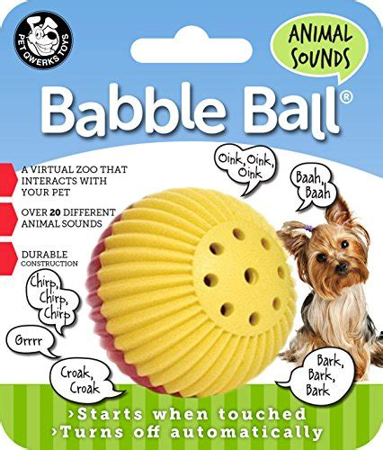 pet qwerks animal sounds babble ball blind dog toys