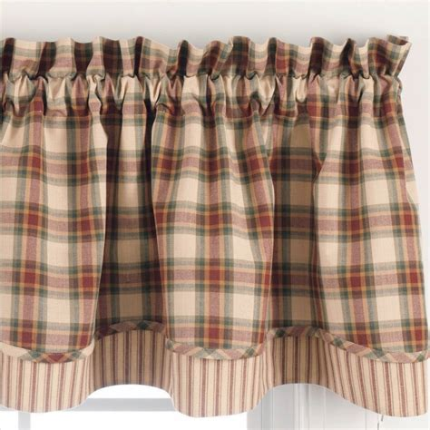 country curtains country layered valance curtains cinnamon