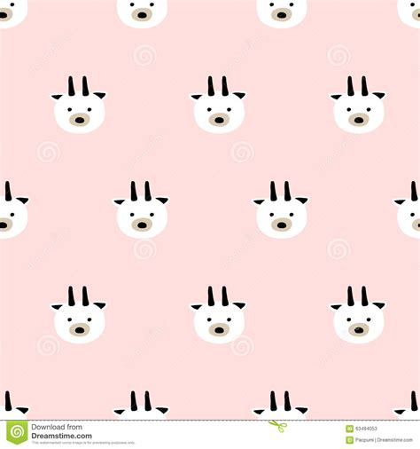 cute goat pattern seamless cute goat pattern stock vector image of textile
