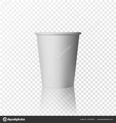 Ananastarte Without Paper Cup vector realistic plastic cup white paper glass on transparent background stock vector