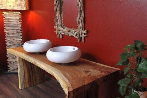 echtes holz badezimmer eitelkeiten doppelwaschbecken mit unterschrank holz gispatcher