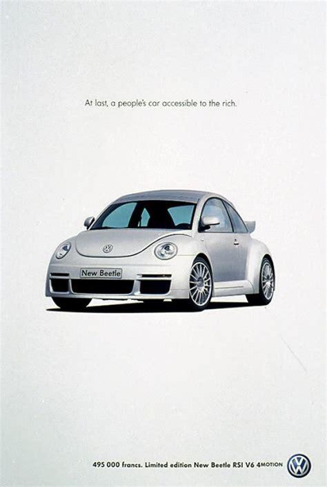 volkswagen ads volkswagen beetle quot new beetle quot print ad by ddb paris