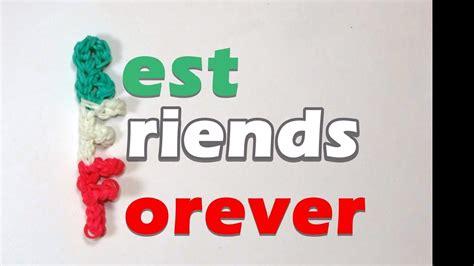 rainbow loom bff  friends  charm friendship youtube