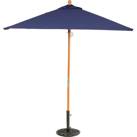 6 Foot Patio Umbrellas Oxford Garden 6 Ft Square Wood Patio Market Umbrella Navy Blue Ultimate Patio