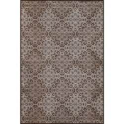 overstock rugs 10x14 settat chocolate graphic wool area rug 7 10x11