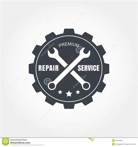 vintage style car repair service label vector logo design