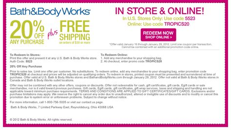 bed bath and body works coupon retail round up printable coupons for bath body works old