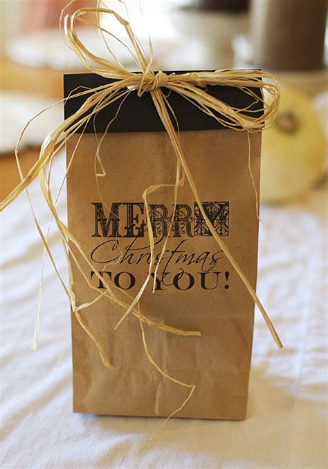 brown paper bag gift wrap awesome gift wrap idea free printable on brown paper bag