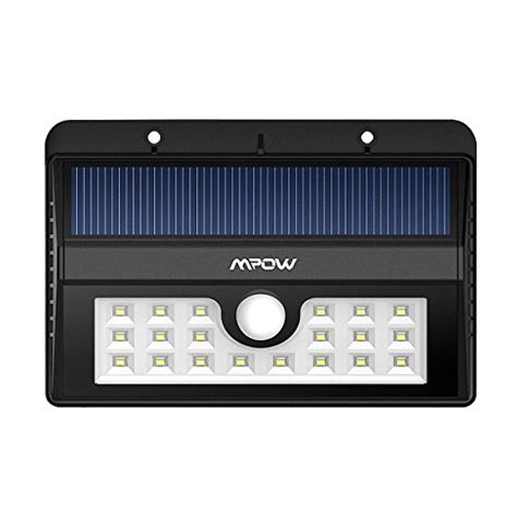 Original Mpow Premium Msl7 20 Led Outdoor Solar Wall Light With path lights mpow solar light bright 20 led outdoor