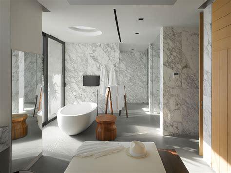 Salle De Bain Marbre Design by Maison Neuve Avec Vue Sur L Eau 224 L Architecture Inspir 233 E