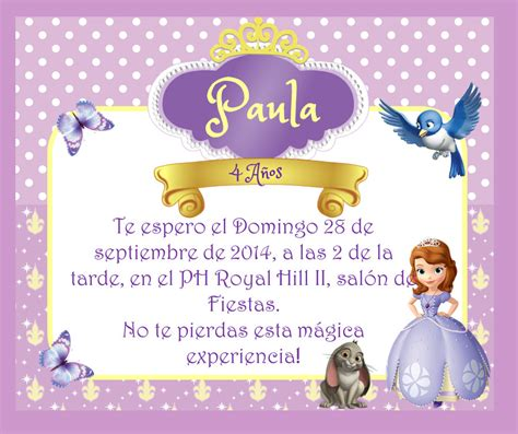 unique wallpaper 30 tarjetas de cumplea 241 os con rosas tarjetas editables de princesita sofia gratis invitacion