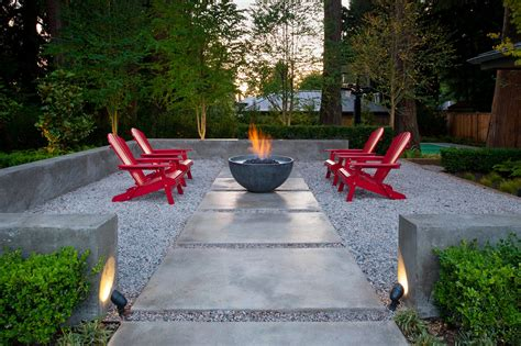 Gravel Patio Designs Backyard Patio On A Budget Rustic Refined