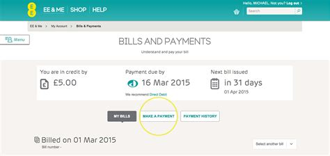 make payment make or set up a payment help ee