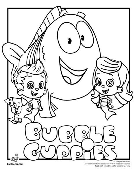 bubble puppy coloring page 71 best tv characters images on pinterest coloring