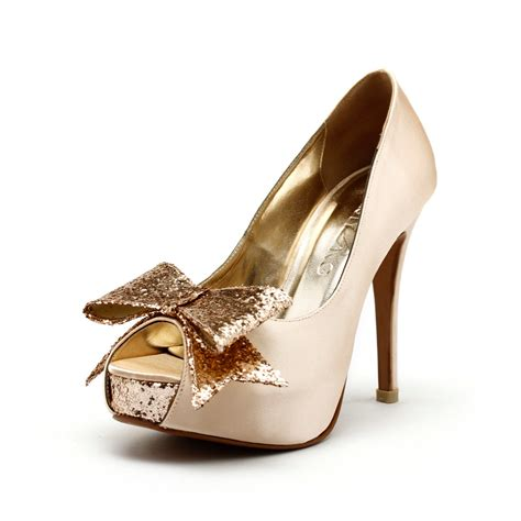 Gold Heels For Wedding by Gold Wedding Shoes Low Heel Is Heel