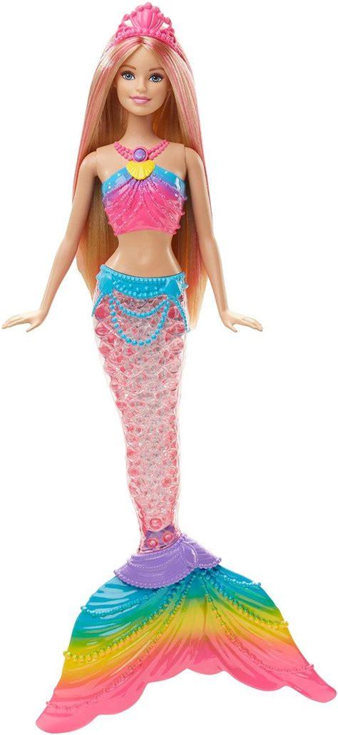 rainbow lights mermaid doll amazon com dreamtopia rainbow lights mermaid doll