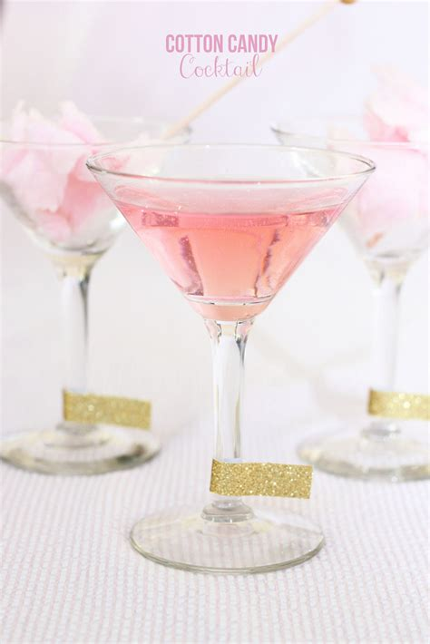 pink martini drinks recipes cotton candy cocktail mirabelle creations