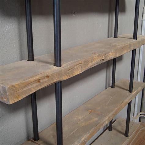 librerie legno massello libreria in legno massello di abete e ferro stile