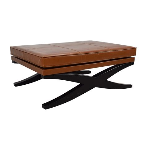 leather and wood ottoman 90 large klismos leather and wood ottoman storage